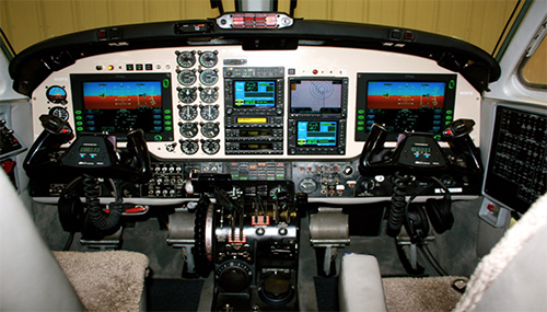 1979 King Air-200 cockpit