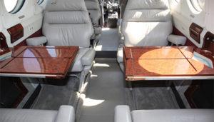 1979 King Air-200 interior seating