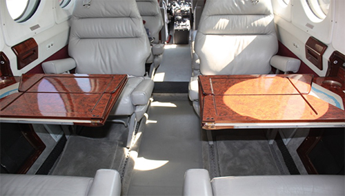 1979 King Air-200 interior seating